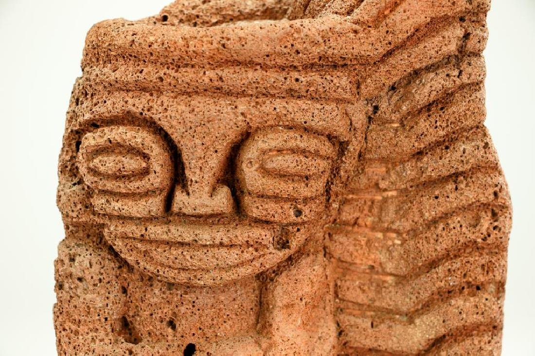 CARVED VOLCANIC ROCK OF A DEITY - 2