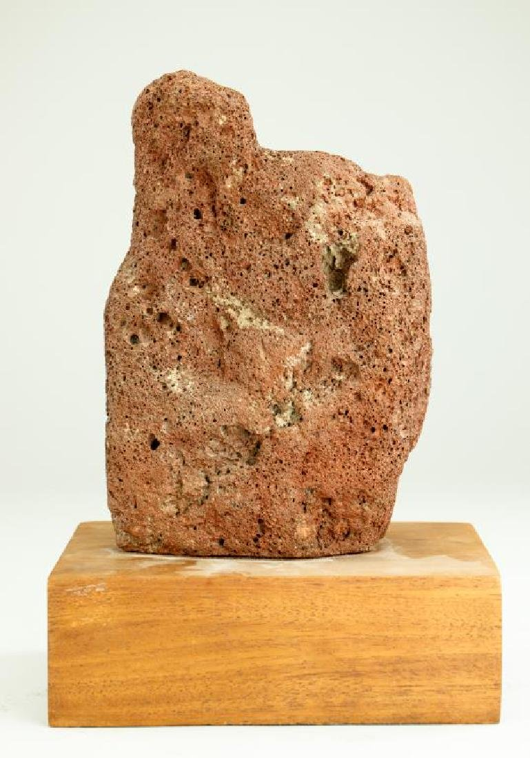 CARVED VOLCANIC ROCK OF A DEITY - 4