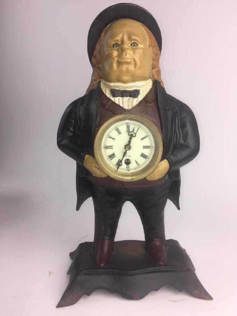 BRADLEY & HUBBARD JOHN BULL MOVING EYES CLOCK