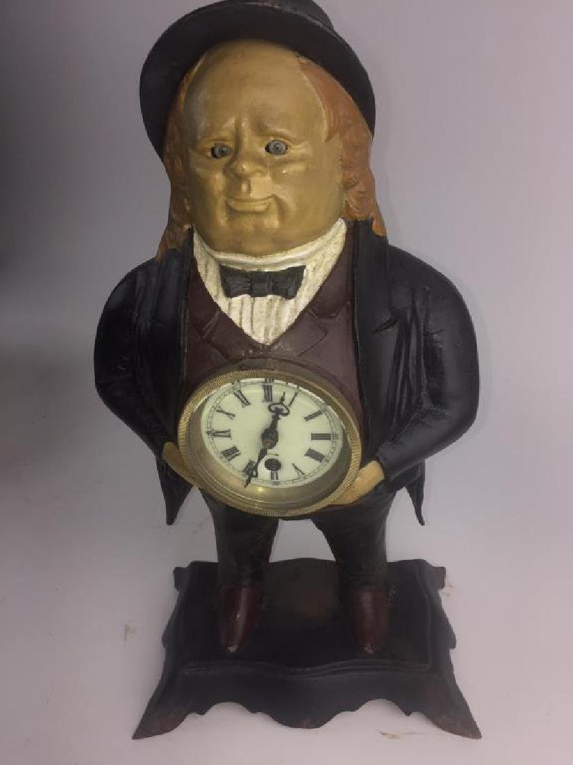 BRADLEY & HUBBARD JOHN BULL MOVING EYES CLOCK - 2
