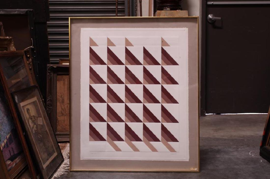 ABSTRACT PRINT OF TRIANGLE