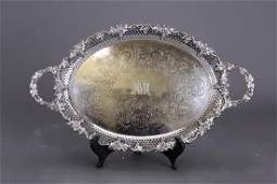 TWOHANDLED SILVERPLATED TRAY