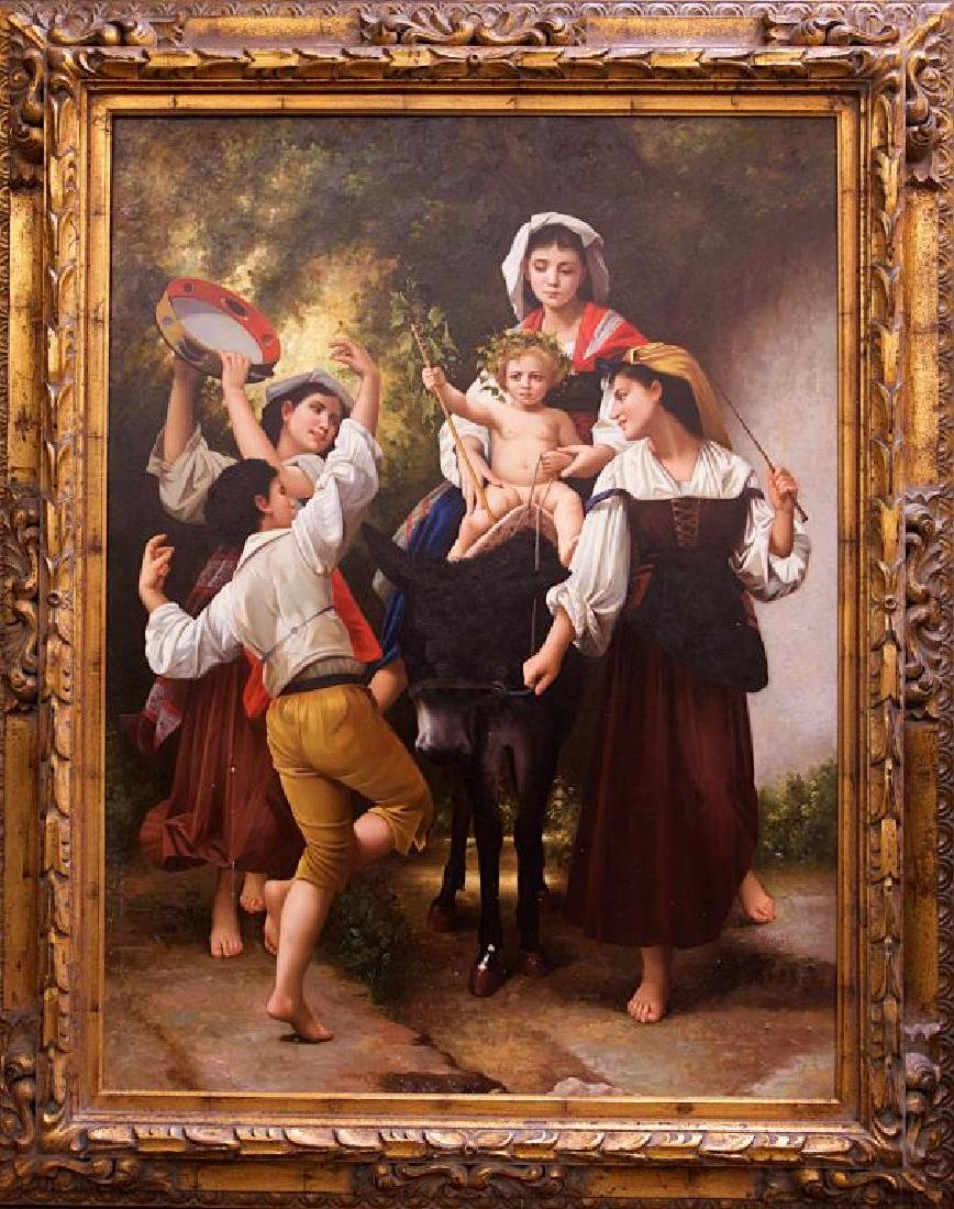 OIL ON CANVAS PRINT OF A BOHEMIAN DANCING SCENE