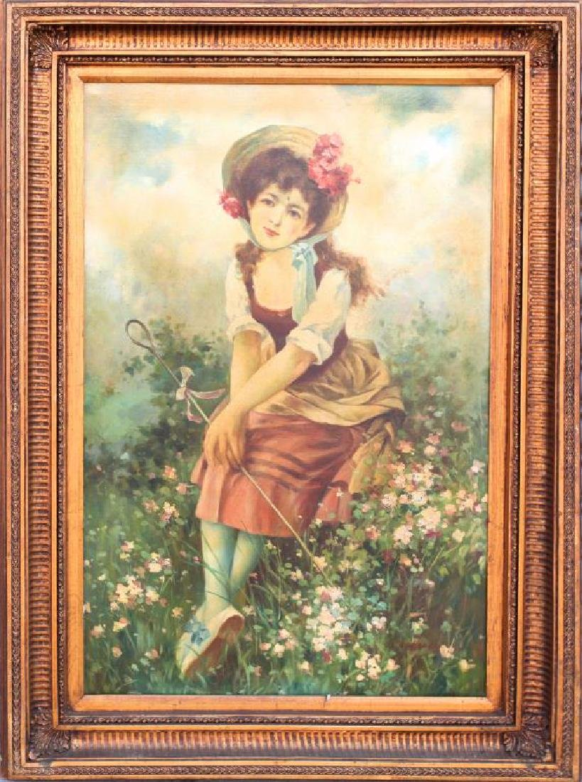 FRAMED PAINTING OF A GIRL PORTRAIT