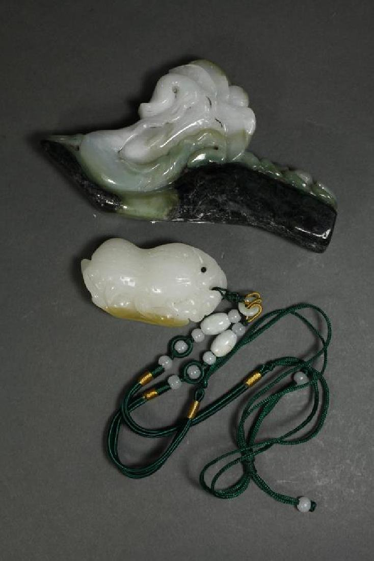 TWO ASSORTED CHINESE JADE PIECES