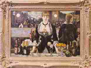 MANET REPRODUCTION OF A BAR AT THE FOLIESBERGERE