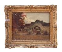 """ROBERT NOBLE'S OIL ON BOARD PAINTING OF """"OLD MILL"""""""