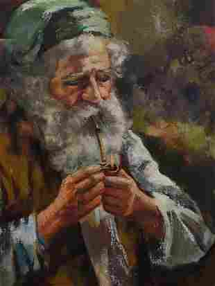 20TH CENTURY OIL PAINTING OF AN OLD MAN