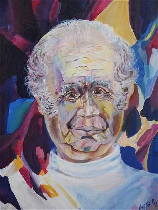 OIL PAINTING OF AN OLD MAN
