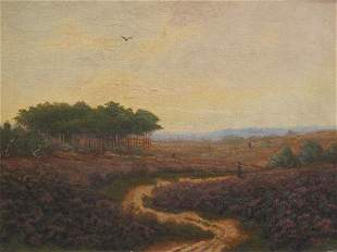 FRAMED OIL ON CANVAS PAINTING OF LANDSCAPE