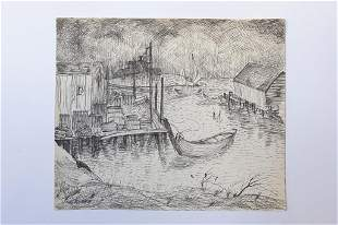 LANDSCAPE DRAWING BY LABROSSE