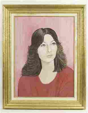 OIL PAINTING OF A LADY'S PORTRAIT BY MILLSTEIN