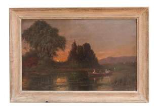 FRAMED OIL PAINTING BY W. RAPHAEL
