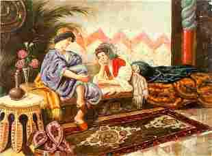 OIL PAINTING ON CANVAS OF LADIES IN HERAM