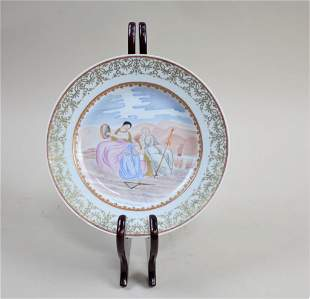 19TH CENTURY CHINESE PORCELAIN HAND PAINTED PLATE