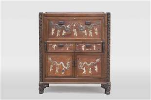 LARGE CHINESE CABINET WITH INLAYS