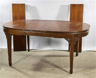 LARGE OLD CHINESE WOODEN DINING TABLE