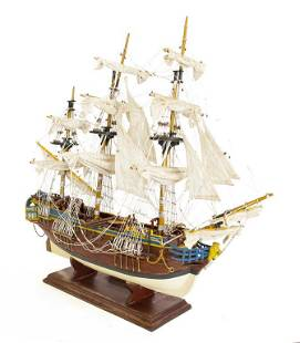 MAGNIFICENT WOODEN MODEL SHIP