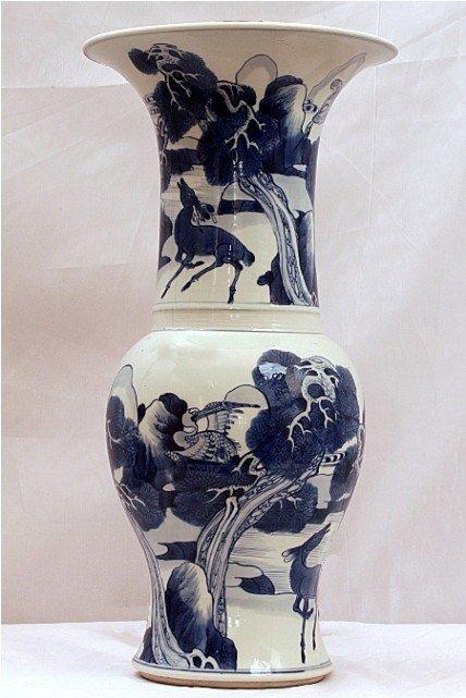 2: CHINESE BLUE AND WHITE YANYAN VASE, KANXI PERIOD