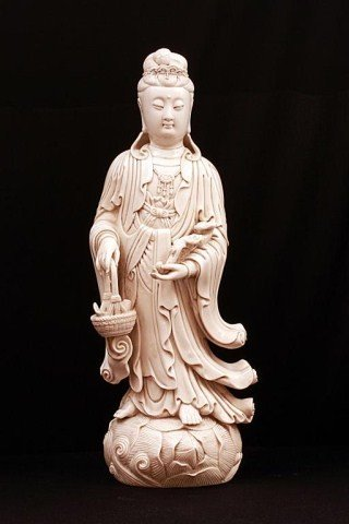 4: CHINESE BLANC DE CHINE FIGURE, OF GUAN YIN