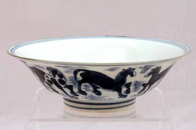 9: CHINESE BLUE AND WHITE  BOWL, WITH JIAJING MARK