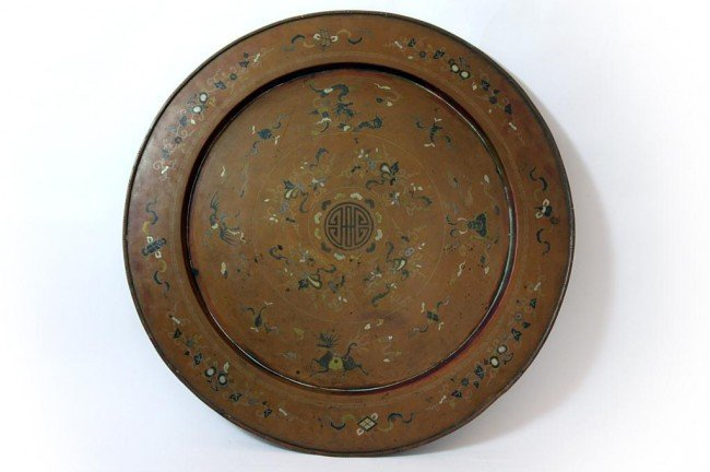 9: LATE 18TH/EARLY 19TH C LARGE CHINESE COPPER TRAY