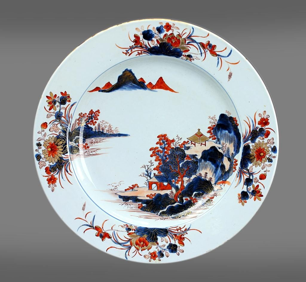 3: 18TH CENTURY CHINESE HAND PAINTED PORCELAIN PLATE