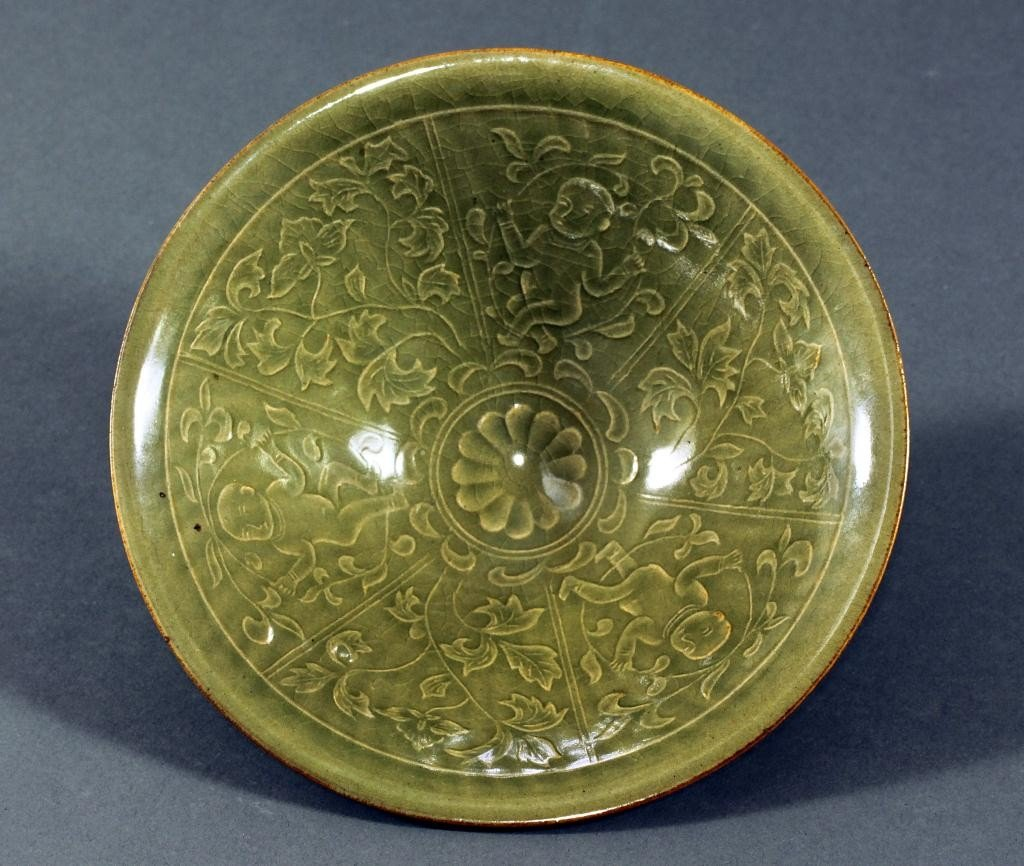 2: CHINESE YAOZHOU CELADON BOWL, POSSIBLY SONG