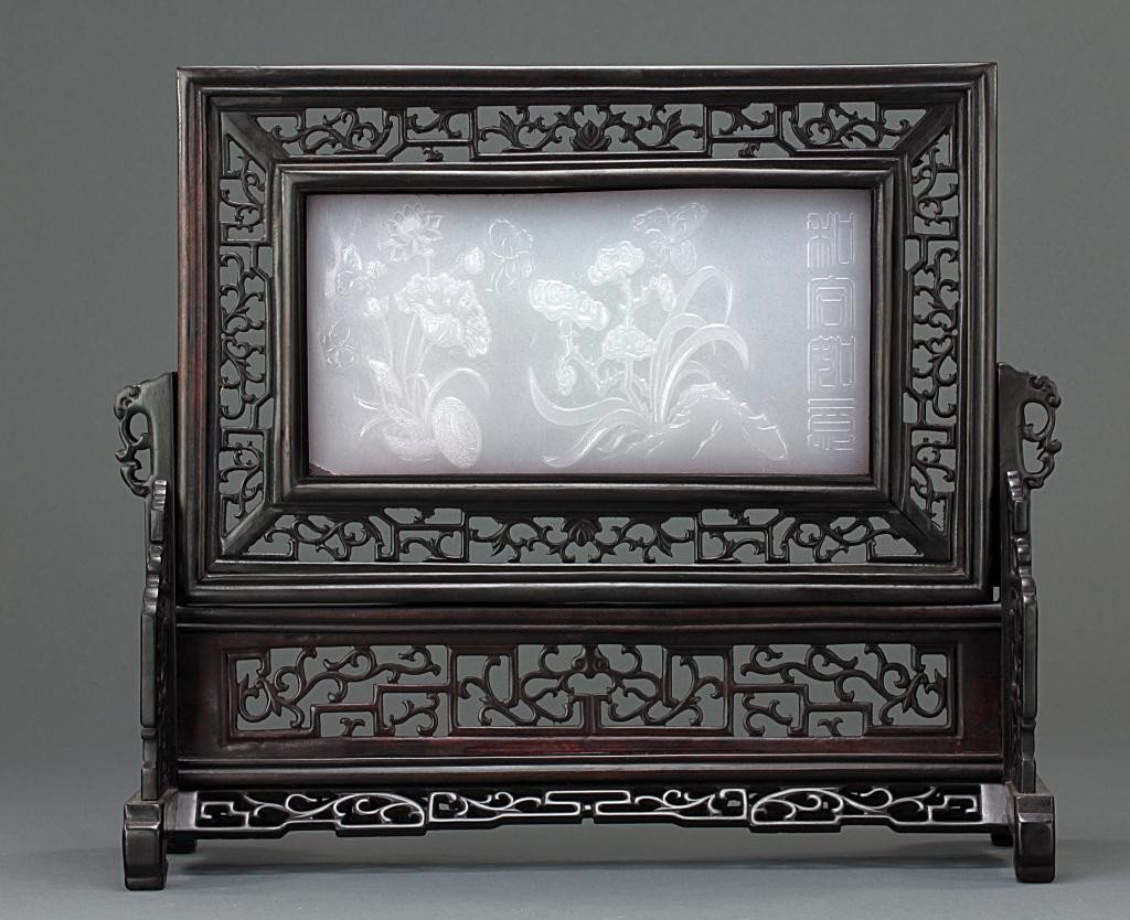 4: CHINESE WHITE STONE TABLESCREEN