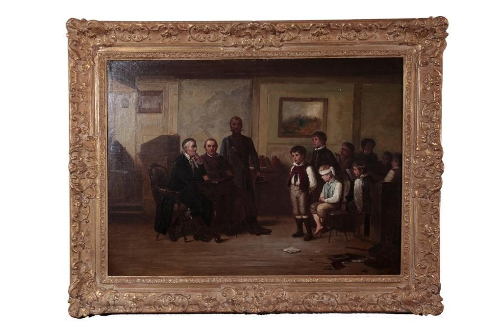 5: ANTIQUE ENGLISH OIL PAINTING ON CANVAS