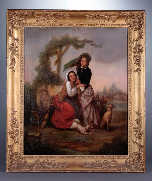 14: 19TH CENTURY FRENCH OIL PAINTING ON CANVAS