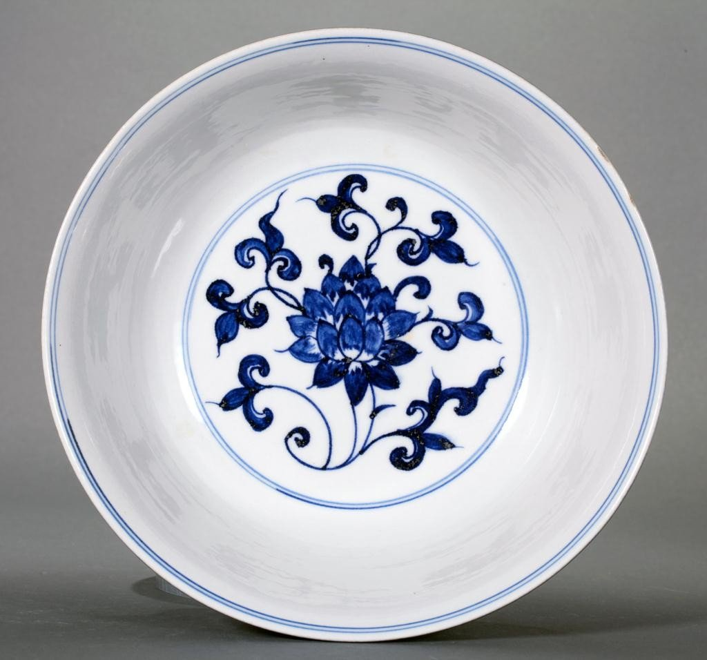10: CHINESE BLUE AND WHITE BOWL