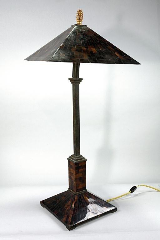 2: 20TH CENTURY TORTOISE SHELL-LIKE LAMP