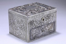 SILVERED JEWELRY BOX