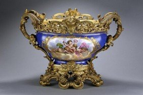 ANTIQUE 19TH CENTURY FRENCH SEVRES CENTERPIECE