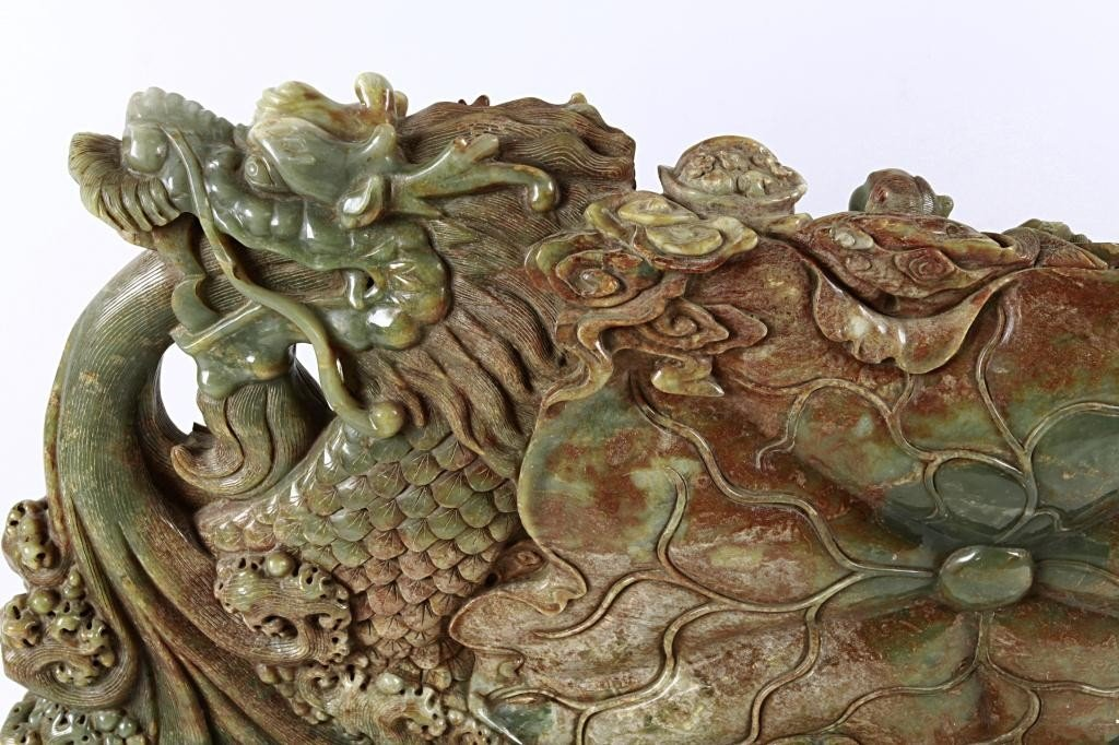 19: LARGE CHINESE CARVED JADE OF 8 IMMORTALS - 4