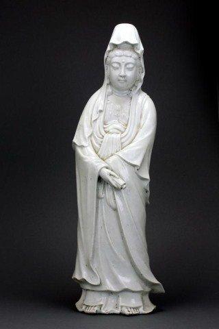 284: CHINESE BLANC DE CHINE PORCELAIN GUANYIN