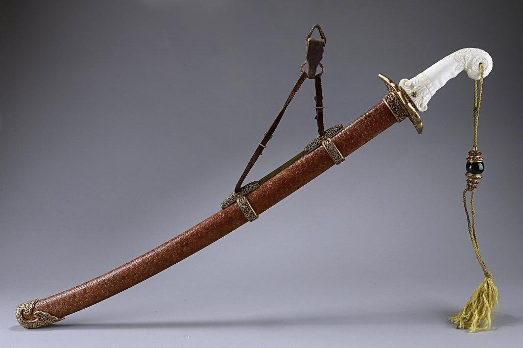 1: CHINESE SWORD AND SCABBARD