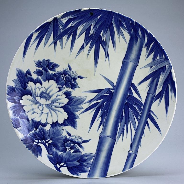 13: JAPANESE ARITA BLUE AND WHITE CHARGER