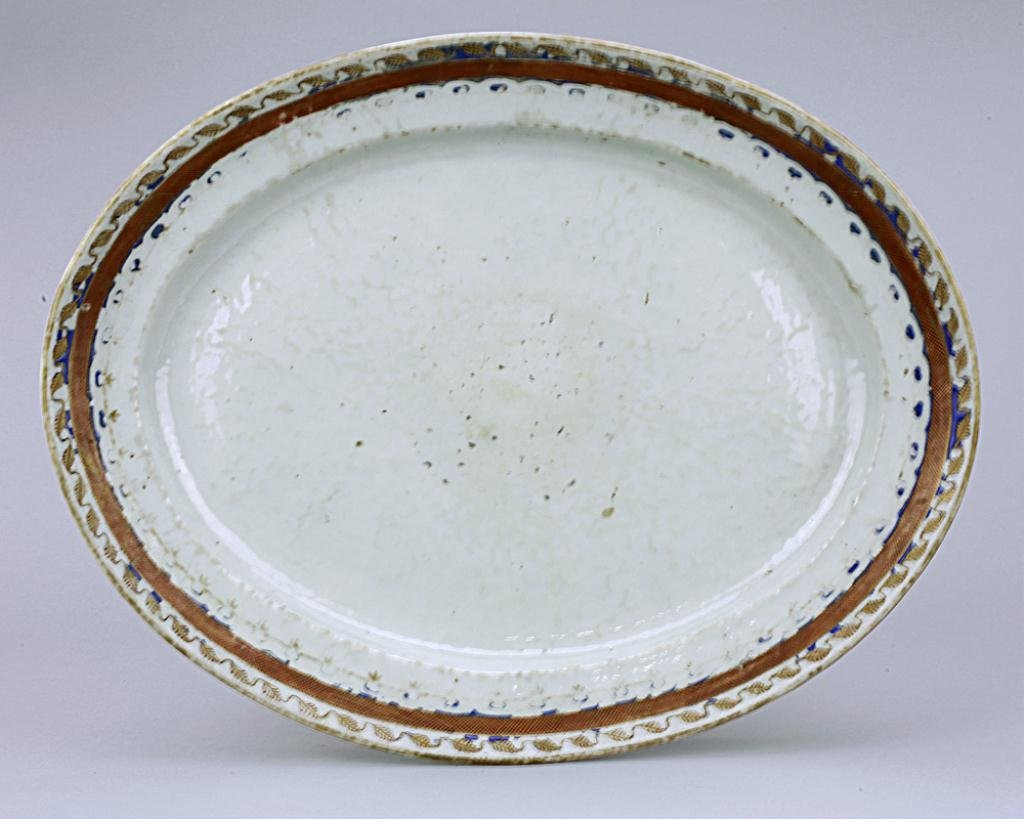 ANTIQUE CHINESE EXPORT PORCELAIN TRAY,18TH CENTURY