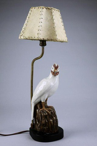 19: CHINESE EXPORT PORCELAIN FIGURE OF A BIRD