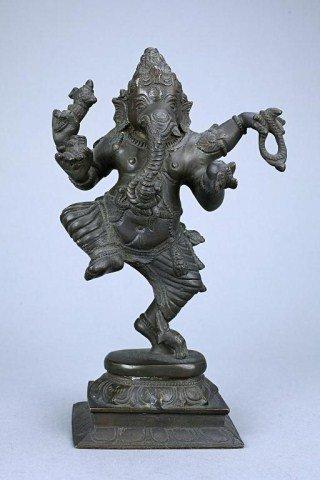 ANTIQUE INDIAN  BRONZE FIGURE OF GANESH