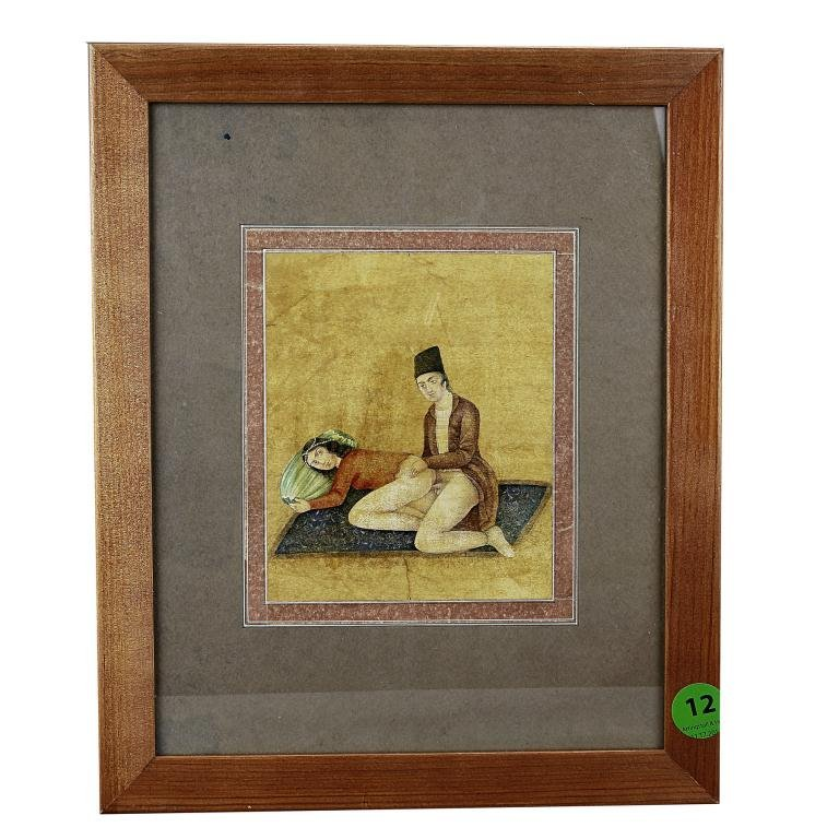 12: ANTIQUE INDIAN EROTIC PAINTING