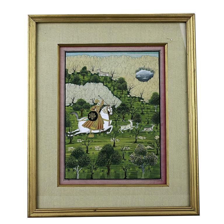 13: FRAMED EASTERN PAINTING