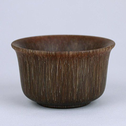 20: CHINESE CARVED HORN BOWL
