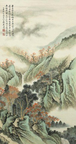 189: CHINESE LANDSCAPE SCROLL PAINTING