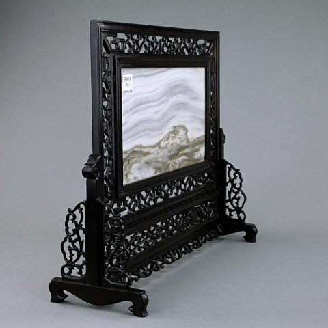 CHINESE HARD STONE TABLE SCREEN