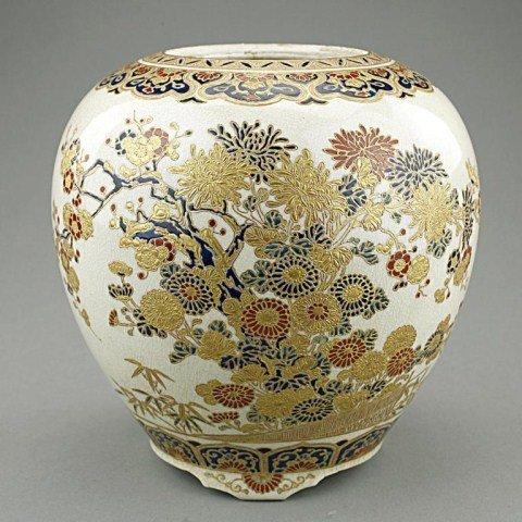 JAPANESE IMPERIAL SATSUMA PORCELAIN JAR