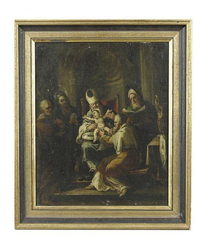 17TH/18TH C ITALIAN OIL PAINTING ON CANVAS