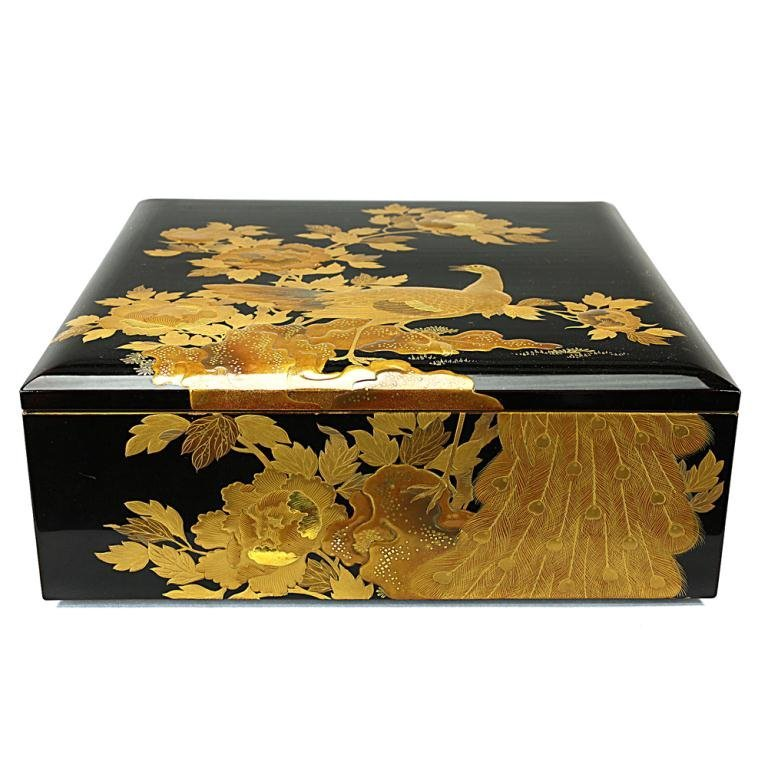 Japanese Lacquered And Gilt Box, Meiji Period